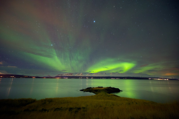 Aurora over Eyjafjorthur