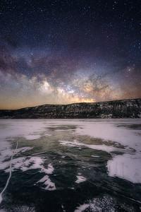Winter Milky Way at Fish Lake