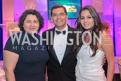 Carolina Becerra, Rep. Xavier Becerra (D-CA), Clarisa Berra. Noche de Gala. Renaissance Mayflower Hotel Photo by Alfredo Flores.JPG