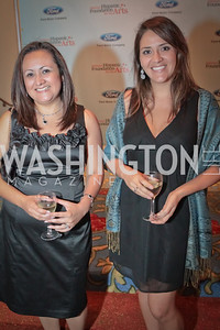 Jackie Otero, Maria Pineda. Noche de Gala. Renaissance Mayflower Hotel Photo by Alfredo Flores. September 13, 2011