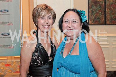 Evelyn Blackburn, Gloria Rodiguez. Noche de Gala. Renaissance Mayflower Hotel Photo by Alfredo Flores. September 13, 2011