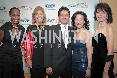 Jennifer Lawson, Patricia de Stacy Harrison, Joseph, Maria Hinojosa, Sandie Pedlow. Noche de Gala. Renaissance Mayflower Hotel Photo by Alfredo Flores. September 13, 2011