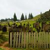 Rainy day at Norfolk island cemetery