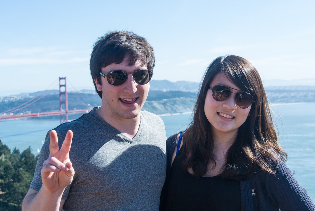 Dan and his friend Rachel in Norcal for spring break.