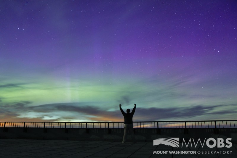 Intern Celebrating the Northern Lights