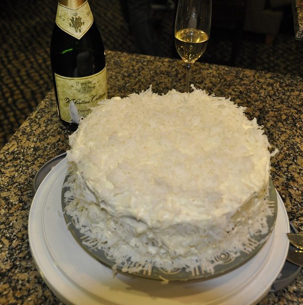Fabulous Coconut Cake, homemade by Diane.  Yum!!!