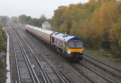 66718 Worting Junction 05/11/13 5Z40 Eastleigh to Victoria (This was an ecs move for a GBRf jolly later in the day)