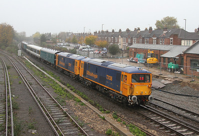 73136 Eastleigh 06/11/13 on the rear of 7Y08 Eastleigh to Southampton Western Docks