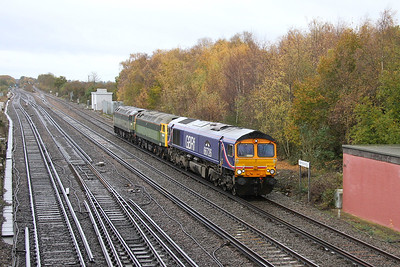 66726 Worting Junction 20/11/13 0Z36 Eastleigh to Crewe with 47812 and 47815