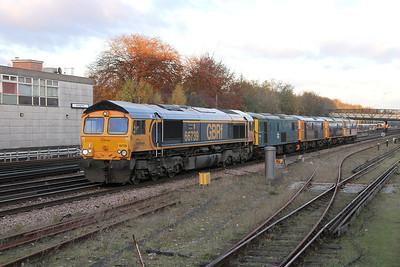 66739 Basingstoke 22/11/13 0Y19 Tonbridge to Eastleigh with 73208, 73212, 73141 and 73205