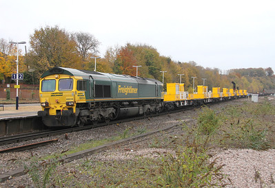 66514 Micheldever 16/11/13 6O26 Hinksey to Eastleigh which included 8 SITT YXA wagons