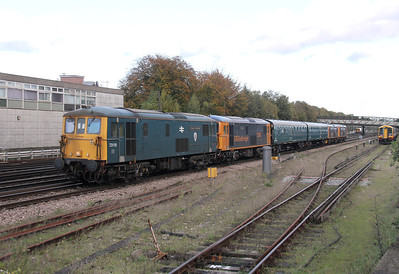 73119 Basingstoke 04/11/13 5Z65 Tonbridge to Eastleigh with 73141, 73212 and 73136