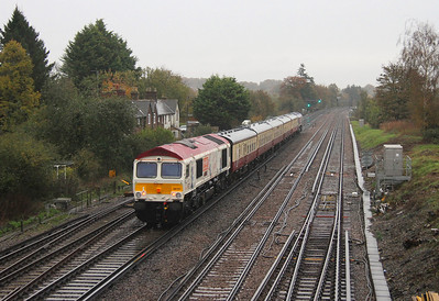 66721 Worting Junction 05/11/13 on the rear of 5Z40 Eastleigh to Victoria