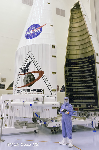 Troy McClellan With OSIRIS-REx Atlas V Payload Fairing
