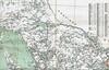Ontario Official Highway Map 1926 Sudbury to Perth. No roads north of North Bay.