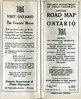 Ontario Official Highway Map 1926. Cover