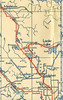 Ontario Official Map 1946. North Eastern Ontario. Swastika detail.