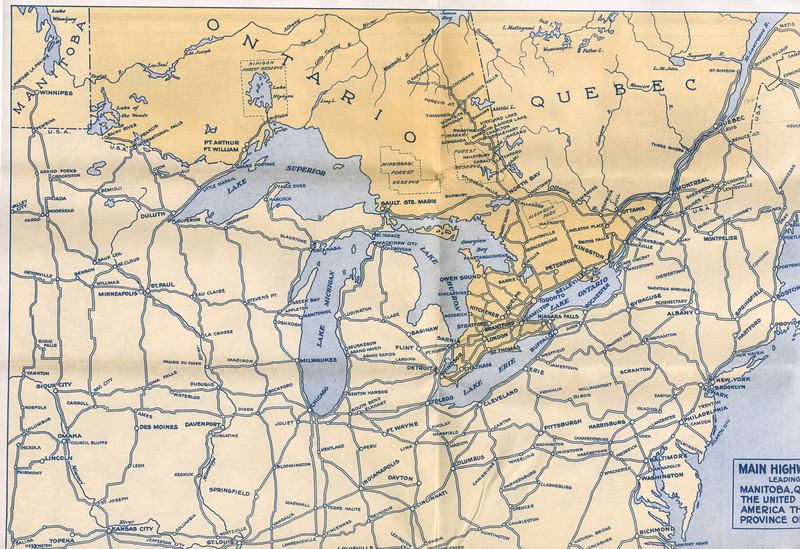 Ontario Official Highway Map 1928 paullantz