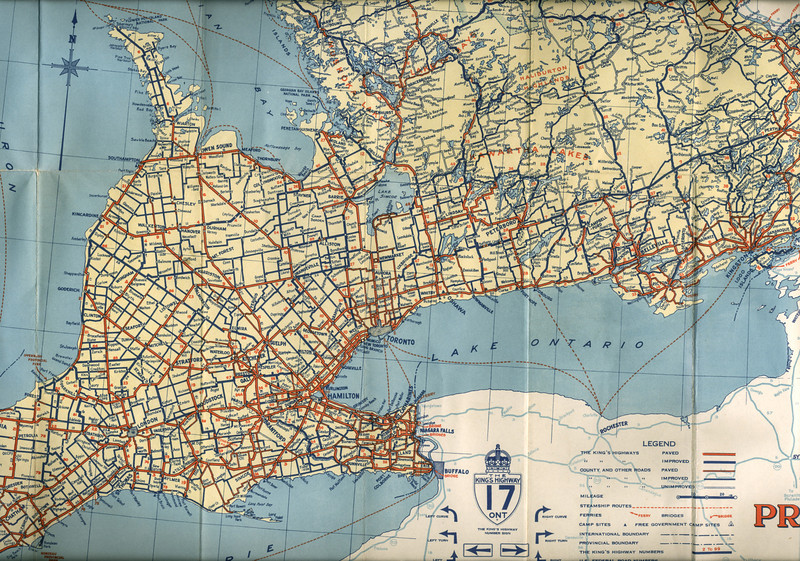 Ontario Official Highway Map 1942 paullantz