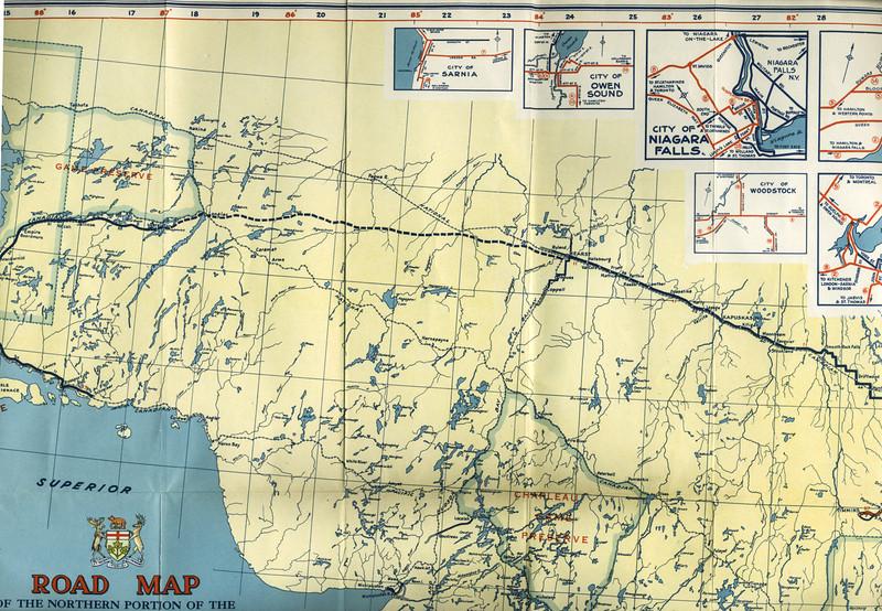 Ontario Official Highway Map 1942 paullantz