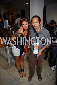 Karima Ouazzani,Brian Liu,Opening Night Of Silver Docs,June 20,2011,Kyle Samperton
