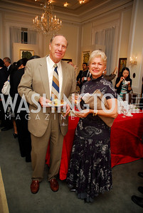 Jim Thompson,Mayda Tsaknis,Opening of China Town  At Meridian,September 22,2011,Kyle Samperton