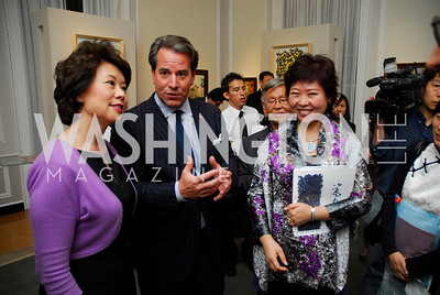 Elaine Chao,Stuart Holiday,Luo Yinggui,,Opening of China Town  At Meridian,September 22,2011,Kyle Samperton
