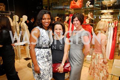Aba Kwawu, Maurisa Potts, Katherine Liola, Opening of Elie Tahari Boutique, Tysons Galleria, April 27, 2011, Kyle Samperton