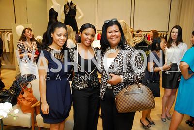Jennifer Fisher, Myss Stephens, Aleysha Proctor, Opening of Elie Tahari Boutique, Tysons Galleria, April 27, 2011, Kyle Samperton