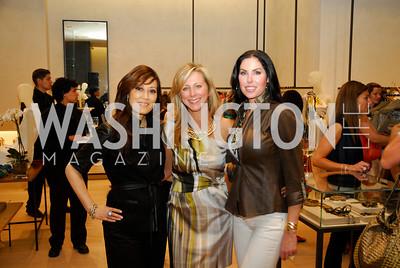 Nancy Kiode, Jean-Marie Fernandez, Amy Baier, Opening of Elie Tahari Boutique, Tysons Galleria, April 27, 2011, Kyle Samperton