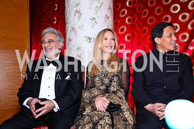 Placido Domingo, Susan Lehrman, Chinese Ambassador Zhang Yesui. Photo by Tony Powell. Opera Ball. Embassy of China. May 7, 2011