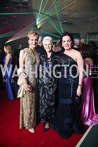 Cynthia Friedman, Regina Porten, Grace Bender. Photo by Tony Powell. Opera Ball. Embassy of China. May 7, 2011