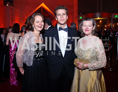 Lady Julia and Oliver Sheinwald, Amanda Downes. Photo by Tony Powell. Opera Ball. Embassy of China. May 7, 2011
