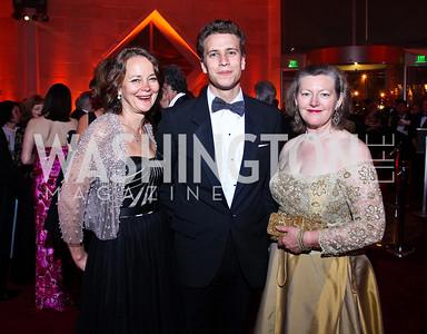 Lady Julia and Oliver Sheinwald, Amanda Downes. Photo by Tony Powell. Opera Ball. Embassy of China. May 7, 2011