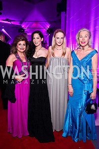 Annie Totah, Karin Tanabe, Alison McLaughlin, Nina Pillsbury. Photo by Tony Powell. Opera Ball. Embassy of China. May 7, 2011