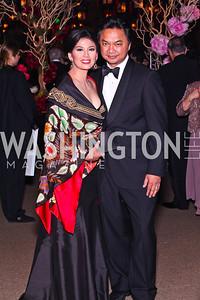Rosa Djalal and Indonesian Amb. Dino Djalal. Photo by Tony Powell. Opera Ball. Embassy of China. May 7, 2011