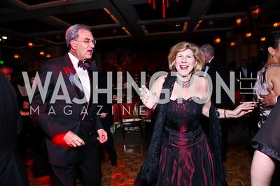 Dr. David Reines and Nina Totenberg. Photo by Tony Powell. Opera Ball. Embassy of China. May 7, 2011
