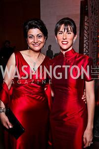 Shamim Jawad, Veronica Valencia. Photo by Tony Powell. Opera Ball. Embassy of China. May 7, 2011