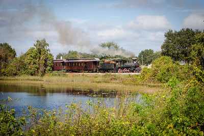 Tavares Eustis & Gulf #2 passes by a small lake along County Rd 448 in Lake Jem, FL.