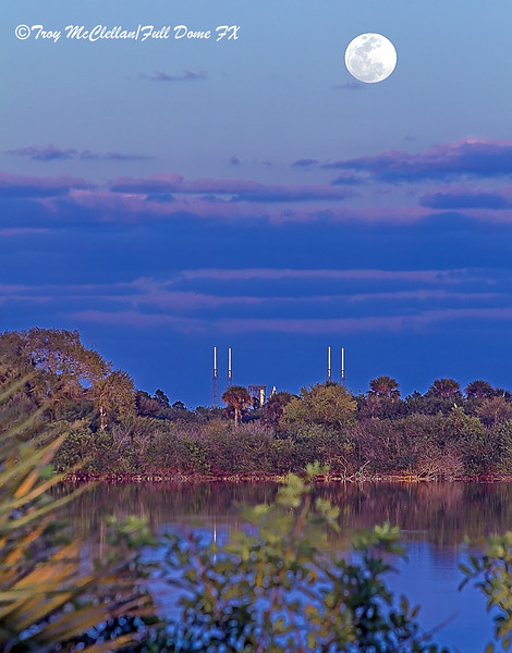 Moonrise Over Launch Complex 41