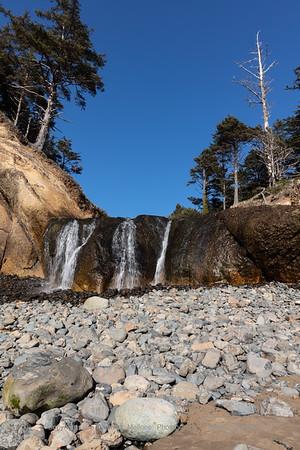 Waterfall at Hug Point