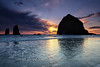 Cannon Beach Sunset Tide
