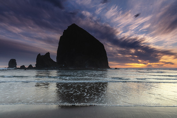 Haystack Rock at Cannon Beach before Sunset