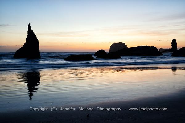 Serene Sunset at Bandon Beach