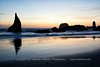 Serene Sunset at Bandon Beach