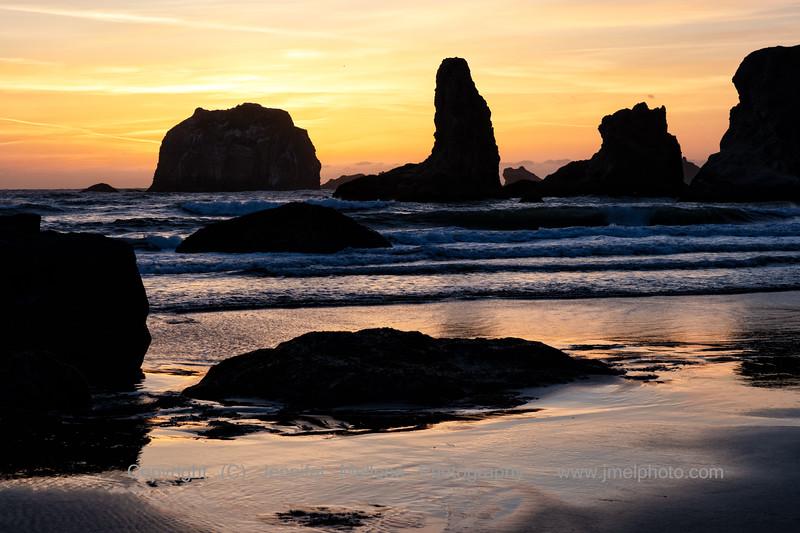 Firey Sunset at Bandon Beach