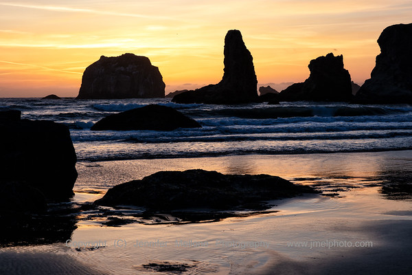 Firey Sunset at Bandon Beach