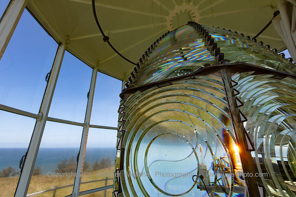 Second-Order Fresnel Lens and View from Lantern Room at Cape Blanco Lighthouse