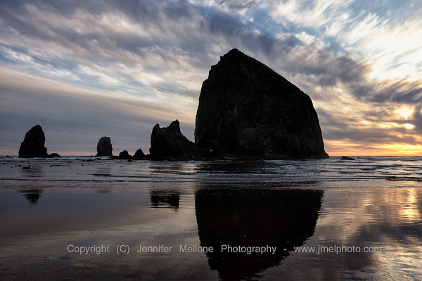 Reflections at Cannon Beach