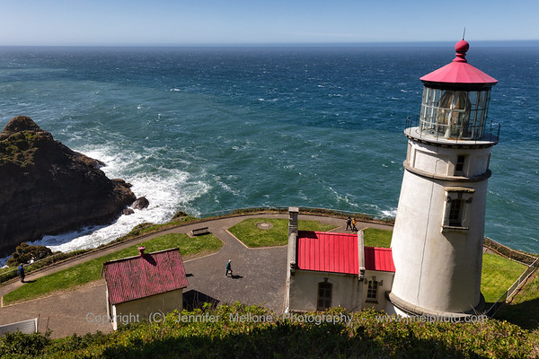 Looking Out to Sea Above Heceta Head Lighthouse